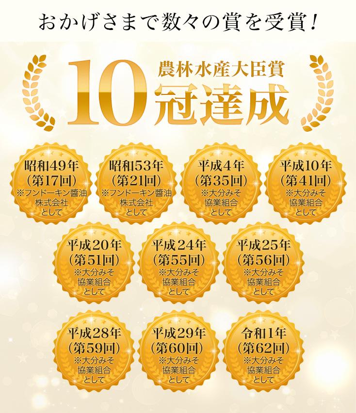 農林水産大臣賞 10冠達成